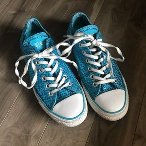 Converse Sneakers Blue Sparkly